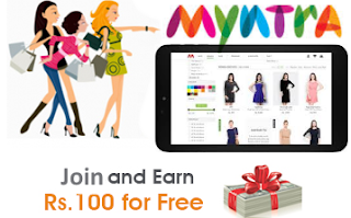 Myntra Rs 100 Signup & Rs 100 Per Refer