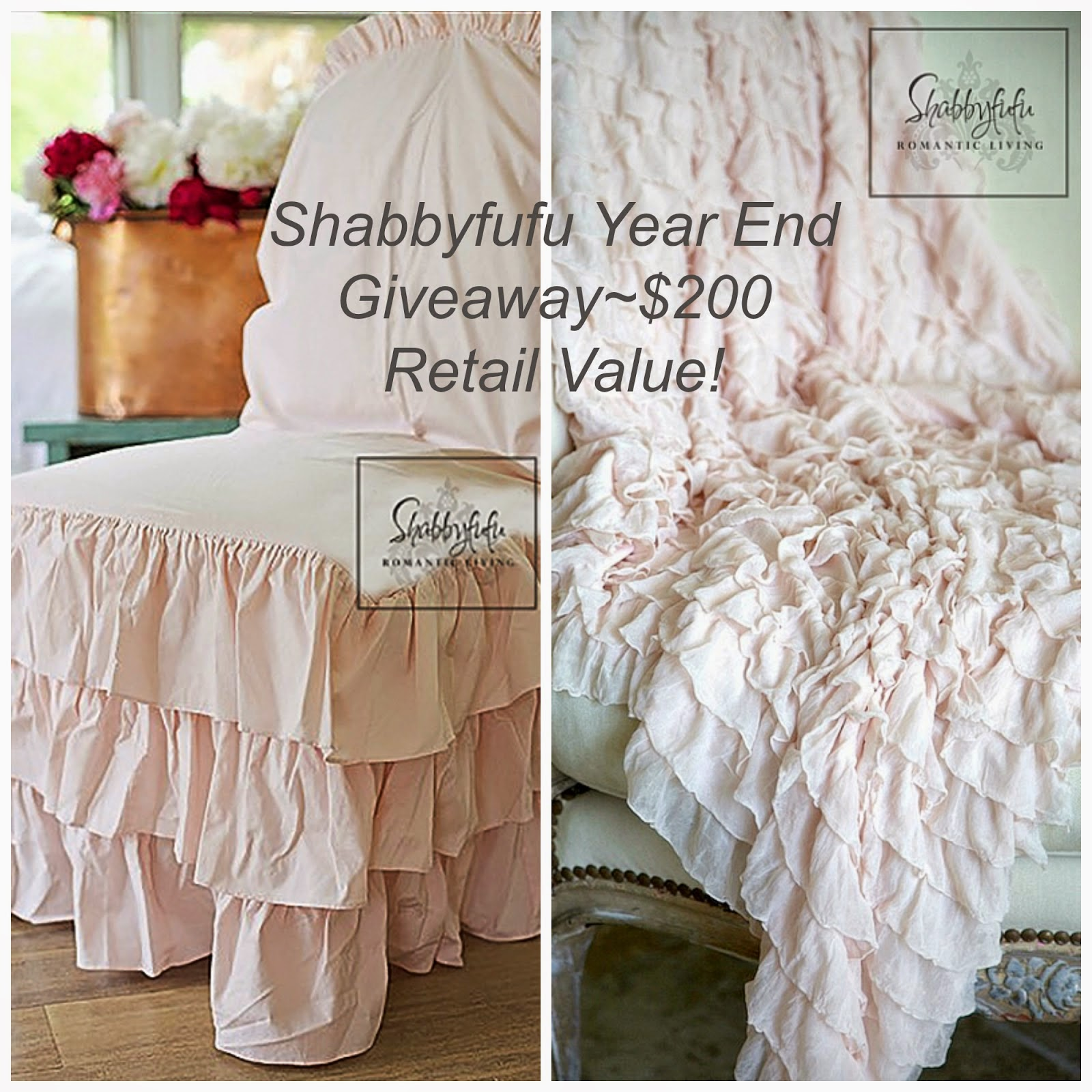 Beautiful giveaway at Shabbyfufu...