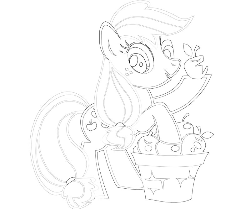 9 My Little Pony Applejack Coloring Page