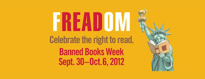 """fREADom. Celebrate the right to read. Banned Books Week Sept. 30-Oct. 6, 2012."""