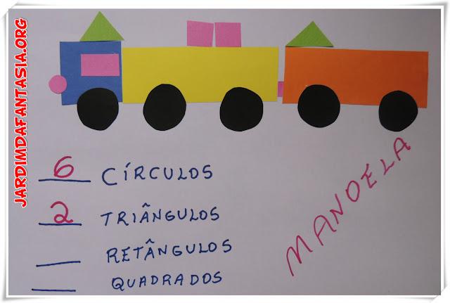 Atividade Lúdica Classificação Formas Geométricas Matemática na Educação Infantil
