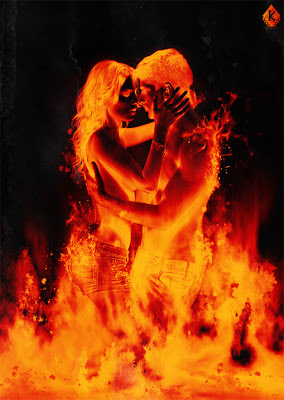 man and woman in lust fire