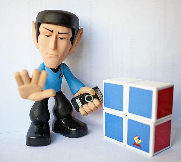 Rubik 2x2x1 Spock Star Trek