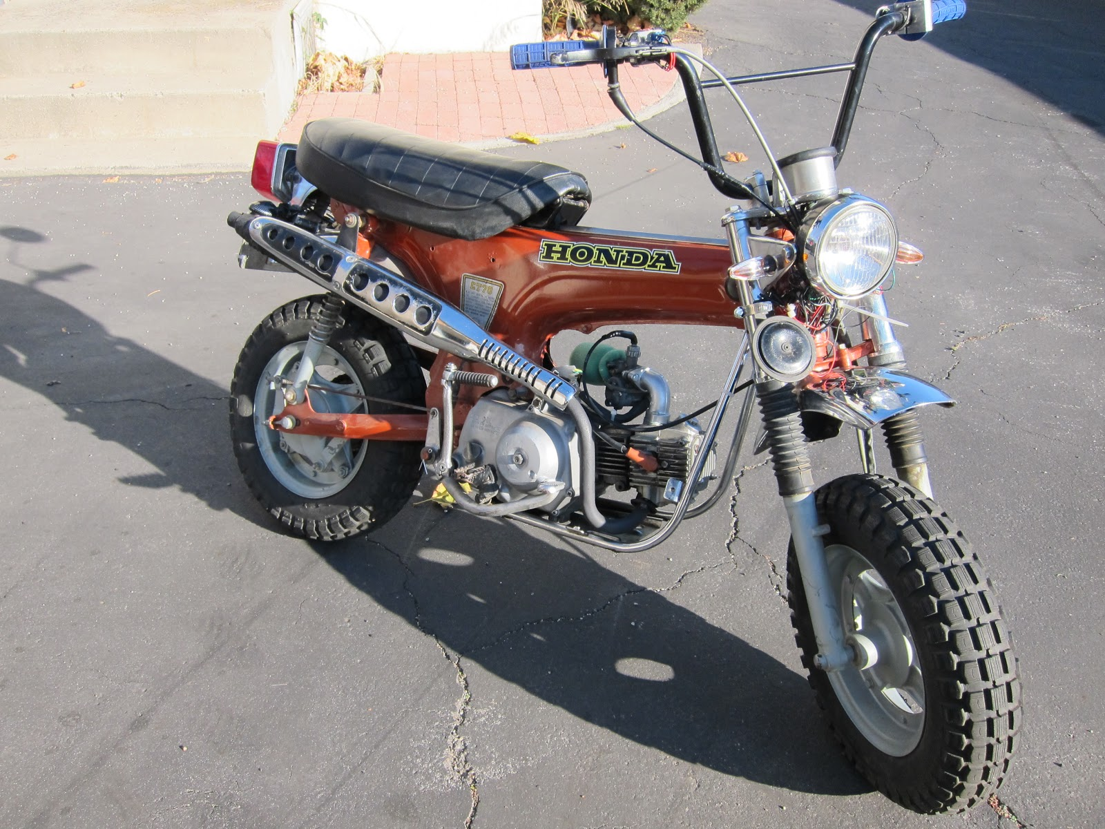 My Honda Trail 70 And Street Legal Conversion Tips 1970 Ct70 Engine What She Looked Like The Day I Got It That Horn Mount Is Ugly But