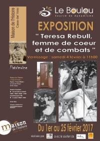 Exposició 'Teresa Rebull, femme de coeur et de combats'  a El Voló fins el 25 de febrer