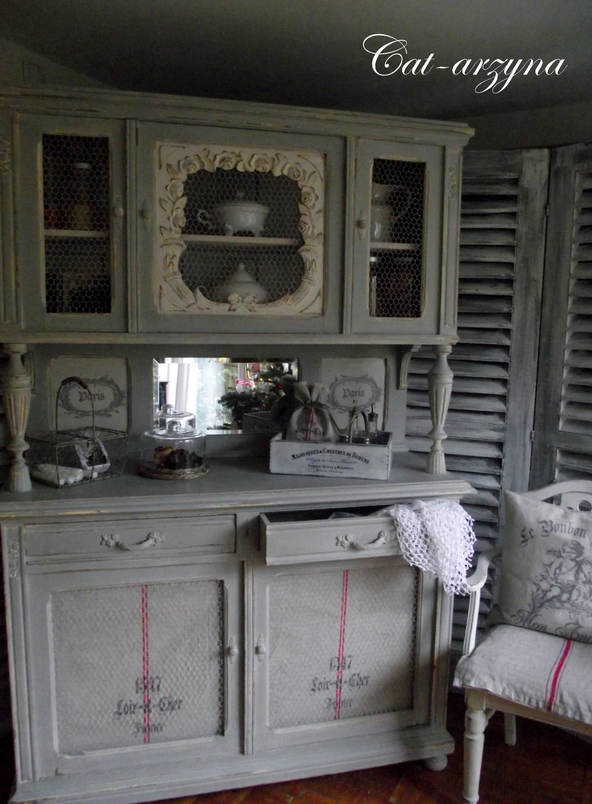 Декупаж буфета своими руками в домашних условиях фото 88