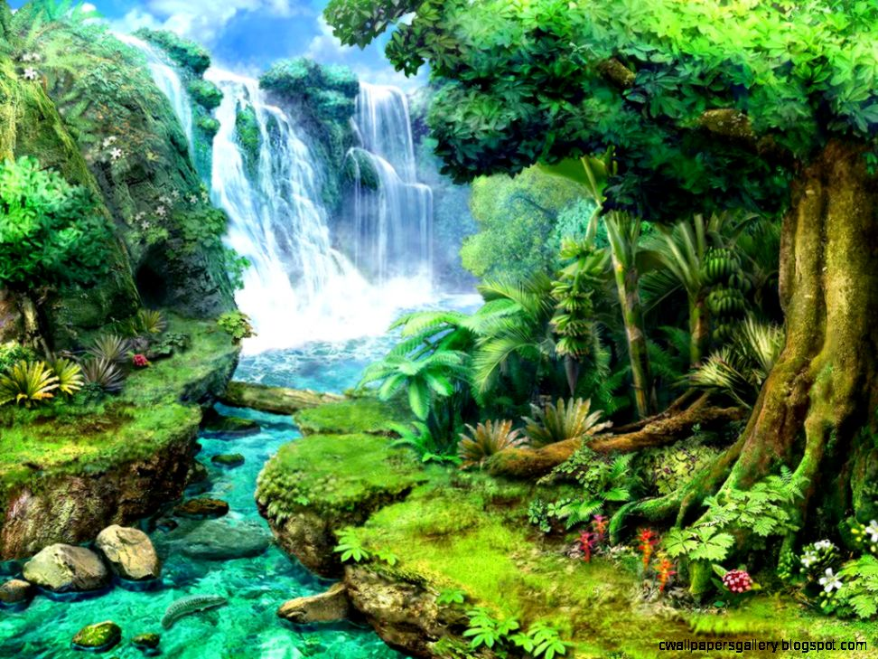 Tropical Waterfall — Crafthubs
