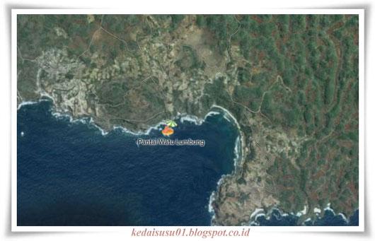 peta pantai watu lumbung