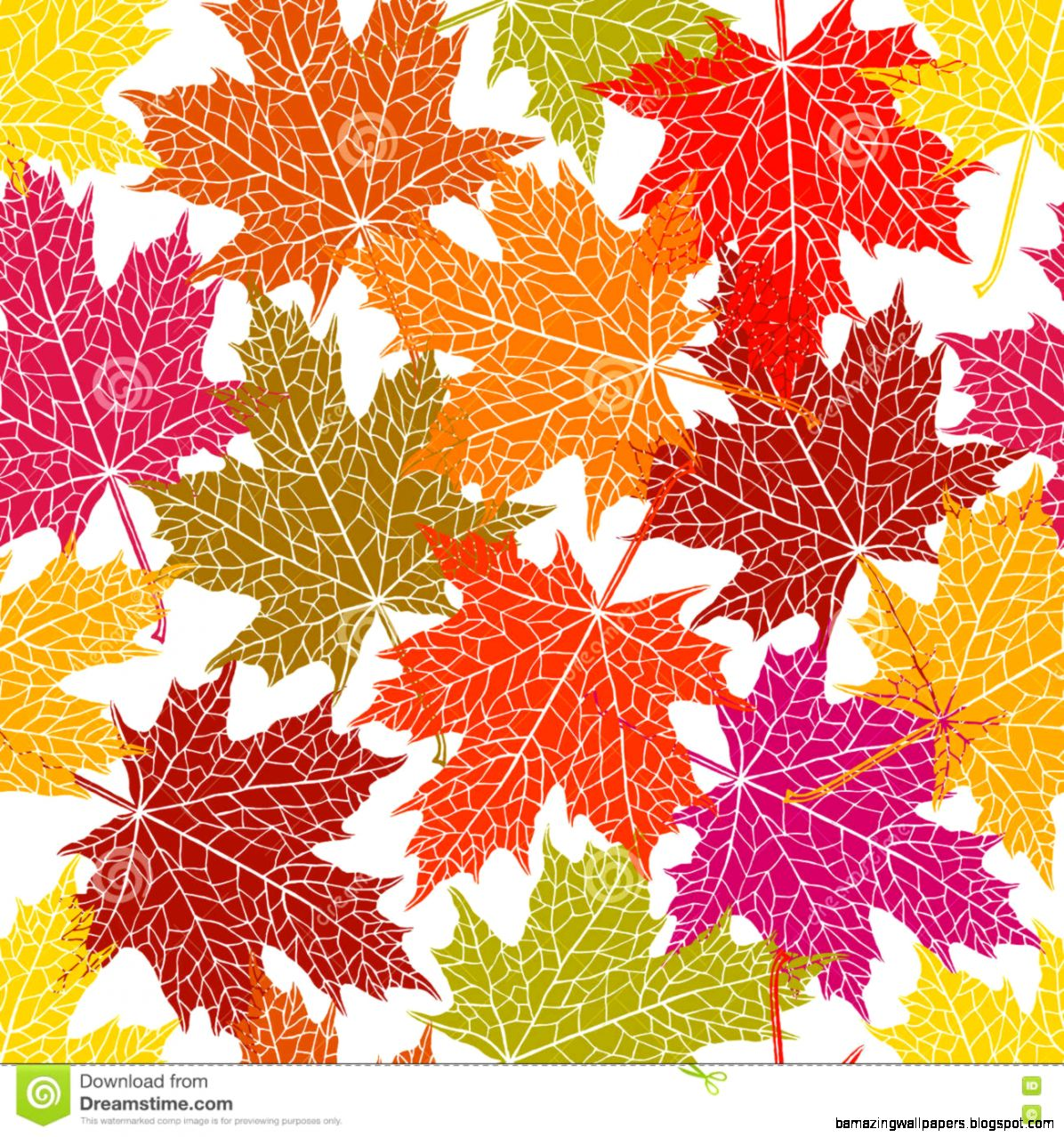 Vector Seamless Pattern Of Maple Leaf Stock Vector   Image 75690596