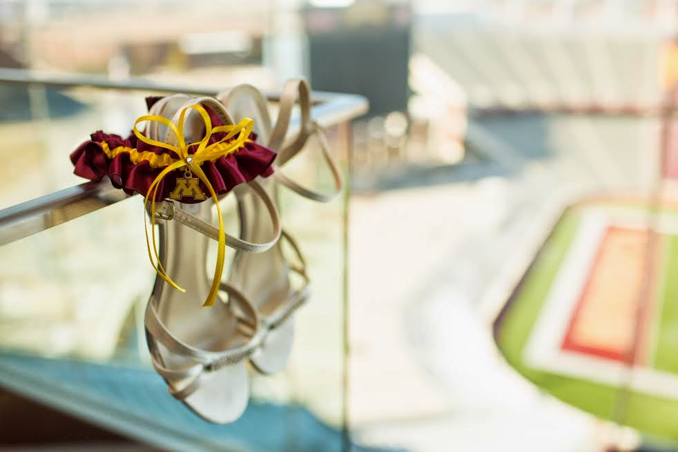 Minnesota Golden Gophers Wedding Garter by Sugarplum Garters