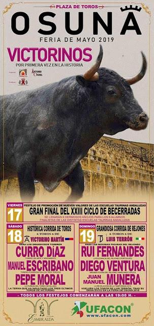 OSUNA (ESPAÑA) FERIA DE MAYO TAURINA 2019
