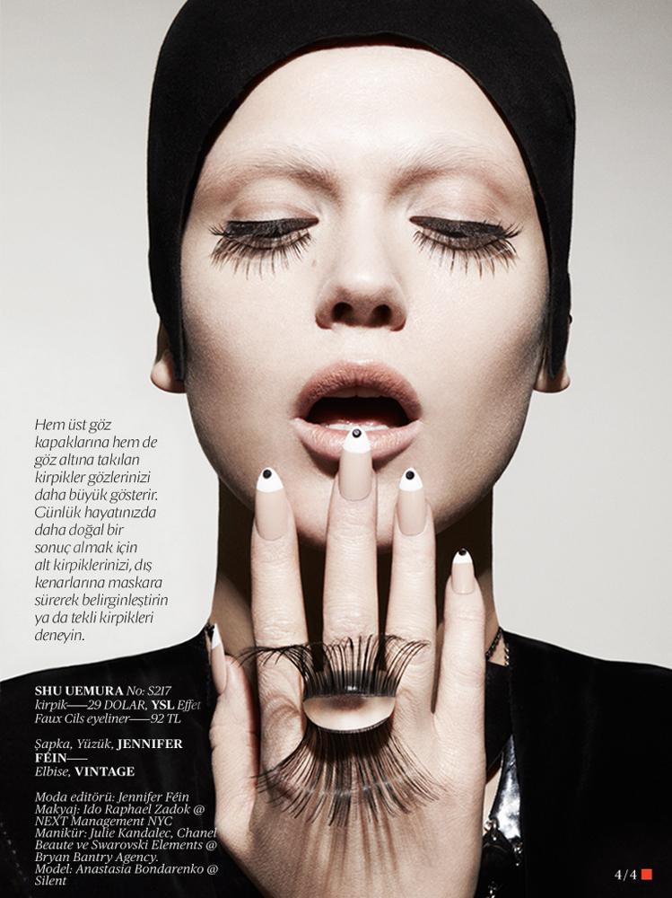 Anastasia Bondarenko Beauty Editorial Photoshoot For Vogue