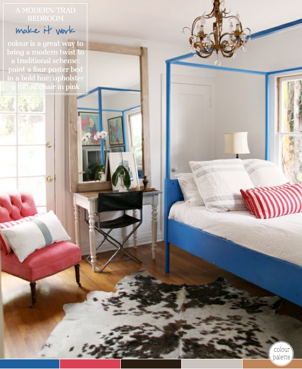 Colour Palette: Trad Meets Modern Bedroom – Bright.