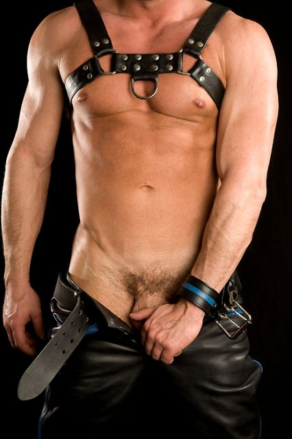 from Bronson leather harness gay man