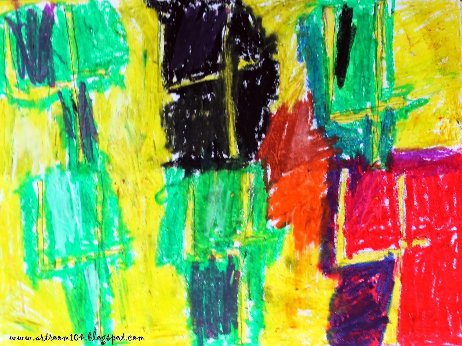 Art Room 104: Kindergarten: Jasper Johns\' OIl Pastel Numbers