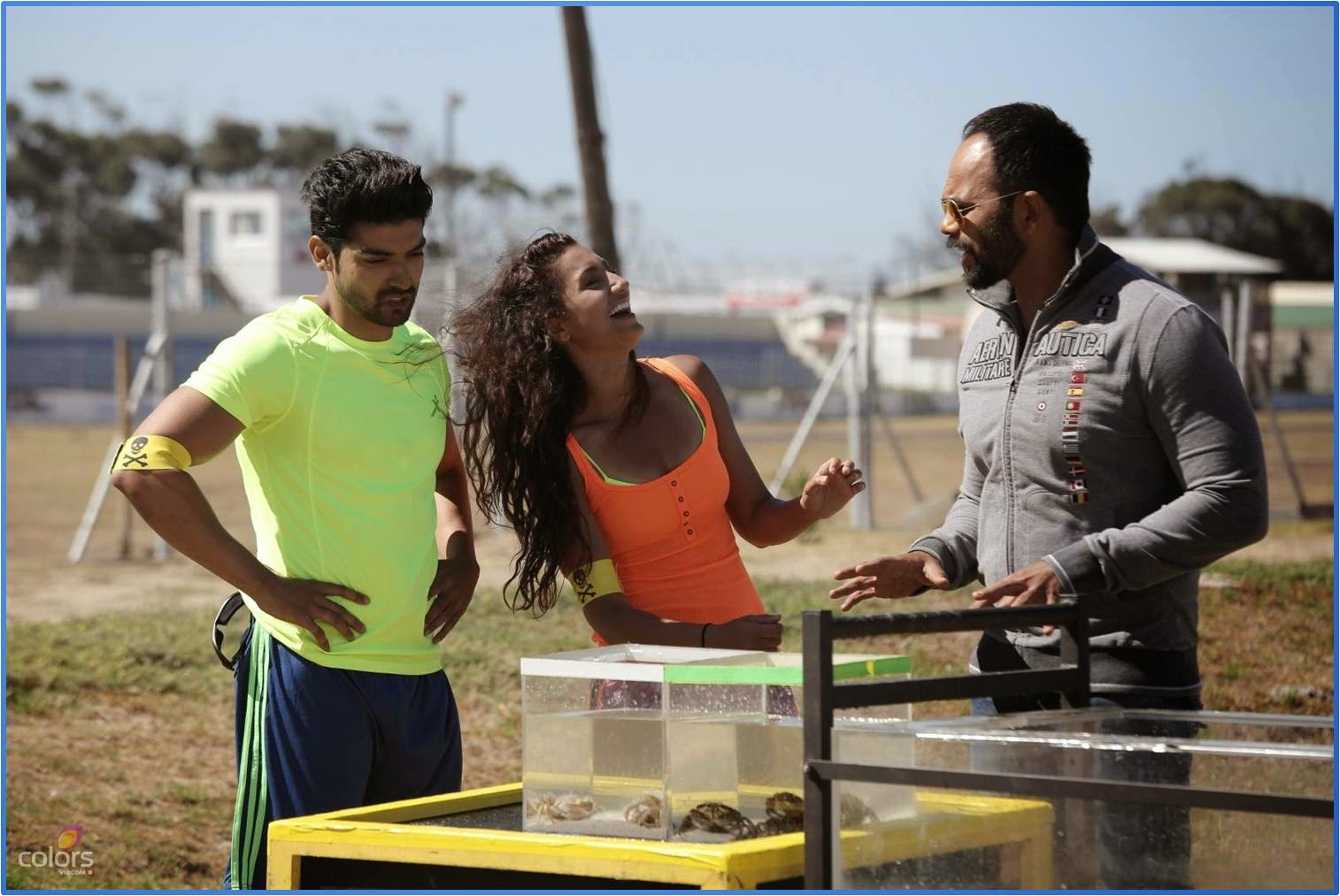 Gurmeet and Gauhar ready to perform stunt with frogs and crabs in Fear Factor Khatron Ke Khiladi