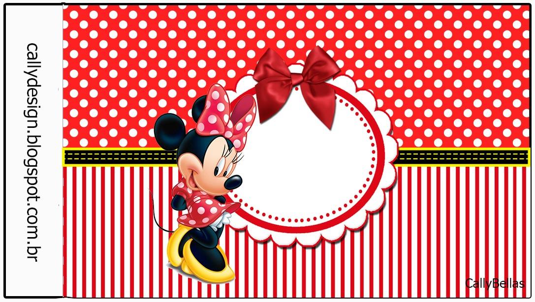 Kit de Personalizados Tema Minnie Vermelha  CALLYS DESIGNKits