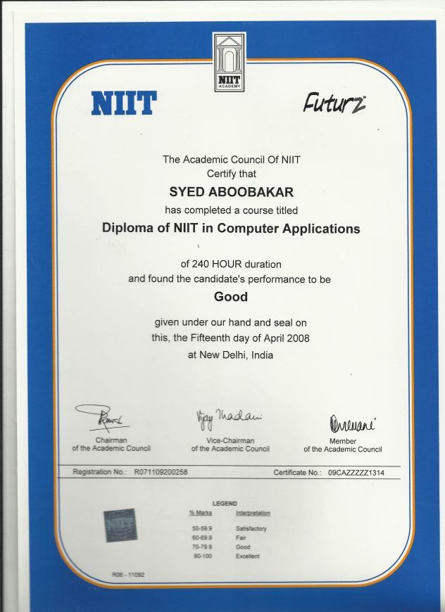Certificate format of niit image collections certificate design certificate format of niit thank you for visiting yadclub nowadays were excited to declare that we have discovered an incredibly interesting topic to be yadclub Images