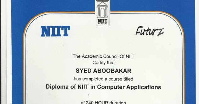 Niit computer certificate sample choice image certificate design niit computer certificate sample gallery certificate design and sample certificate niit image collections certificate design and yadclub Images