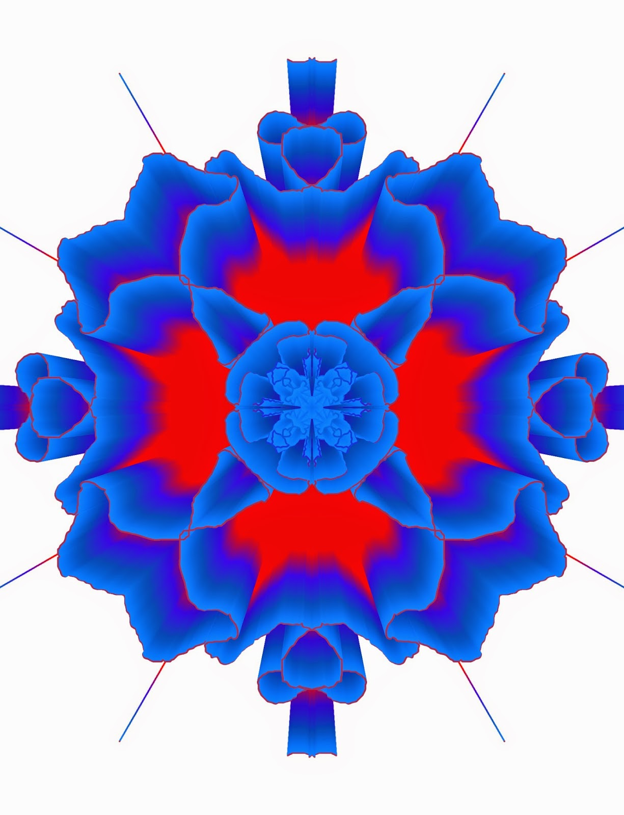 Ruffled Mandala