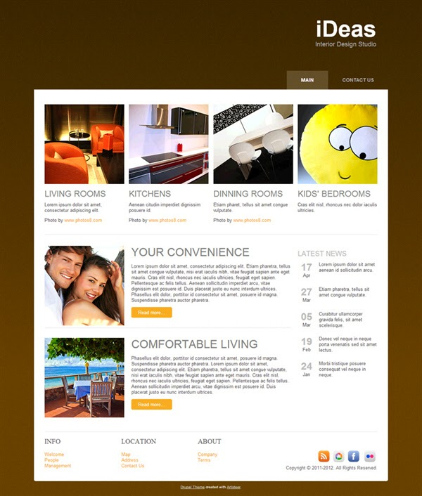 iDeas - Free Drupal Theme