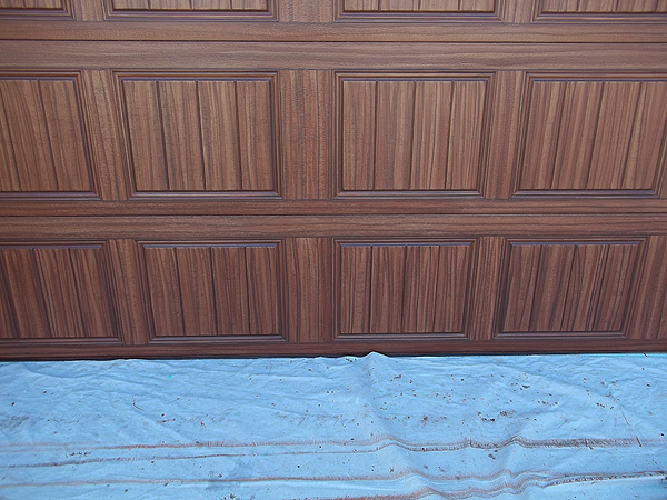 June 2015 everything i create paint garage doors to for Painting garage door to look like wood