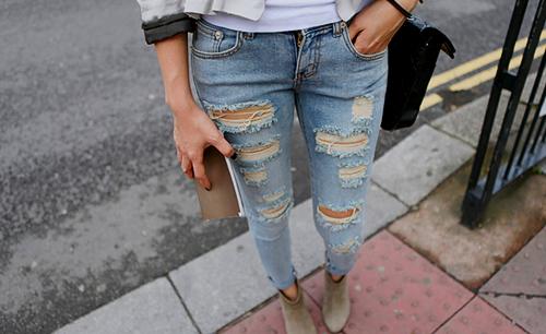 Zerrissene jeans damen zara