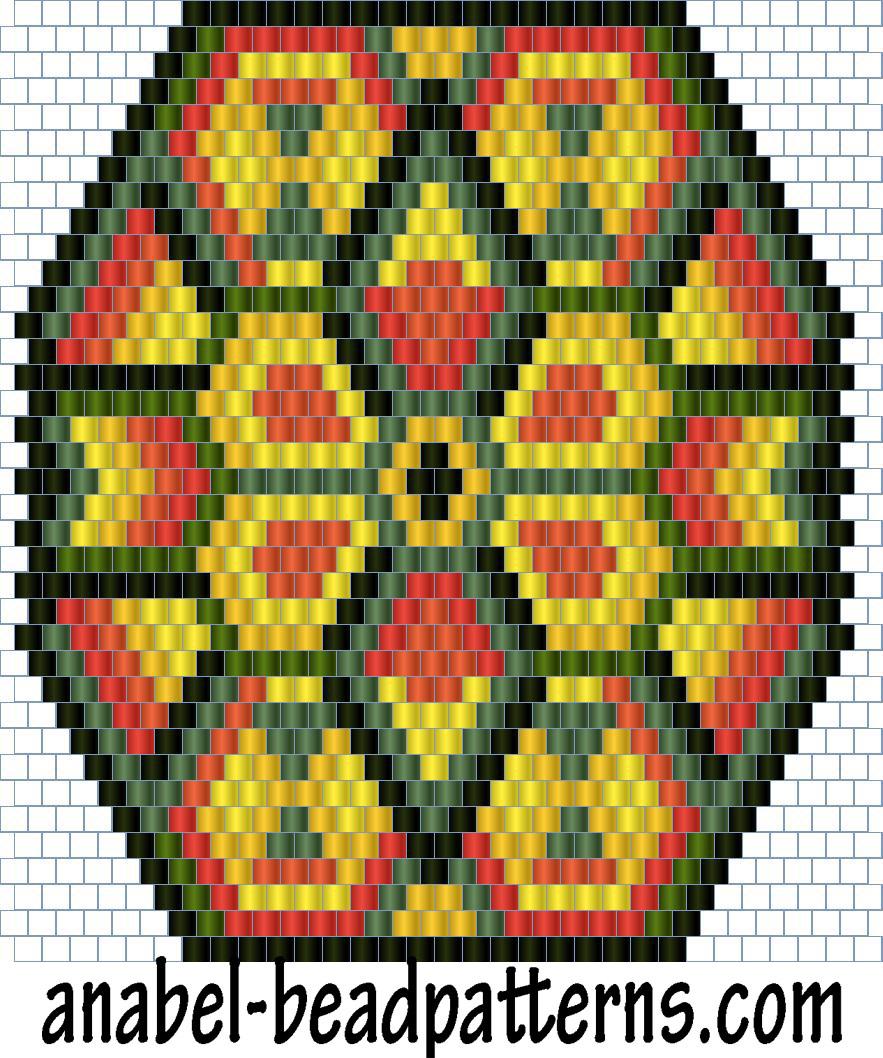 схема мозаичное и кирпичное плетение из бисера