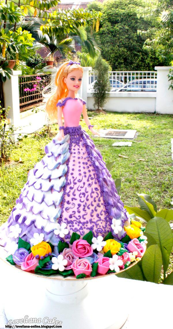 Doll Cake Buttercream Barbie Doll Cake For Adik Alya
