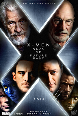 x-men days of future past, unofficial movie poster