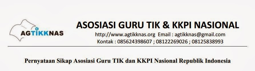 Pernyataan Sikap Asosiasi Guru TIK dan KKPI Nasional Republik Indonesia