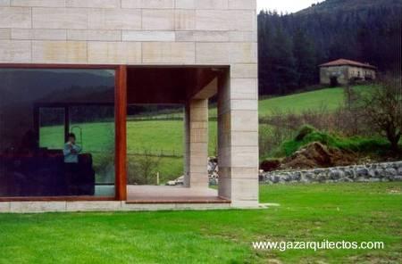 Sector sur de la casa rural en Vizcaya