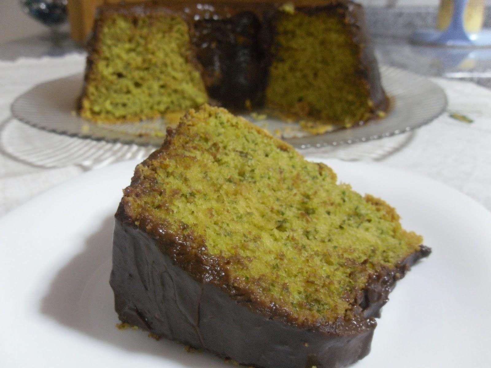 Receita de bolo verde