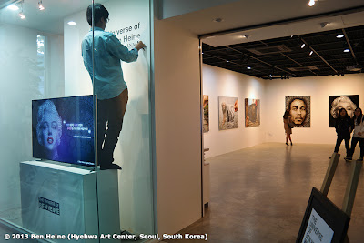 Preparation of Ben Heine exhibition at Hyehwa Art Center - INMD Agency