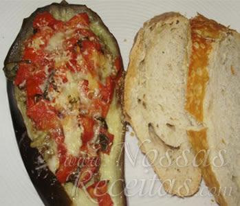 receita de Berinjela assada com tomates