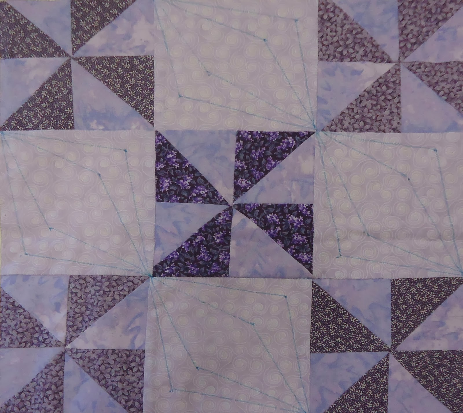 Marked lilac block