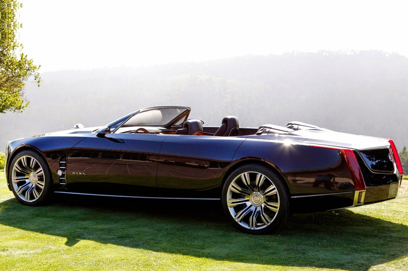 At the 2013 pebble beach concours d elegance cadillac unveiled a new concept the elmiraj which is similar in design to the ciel except it is a coupe