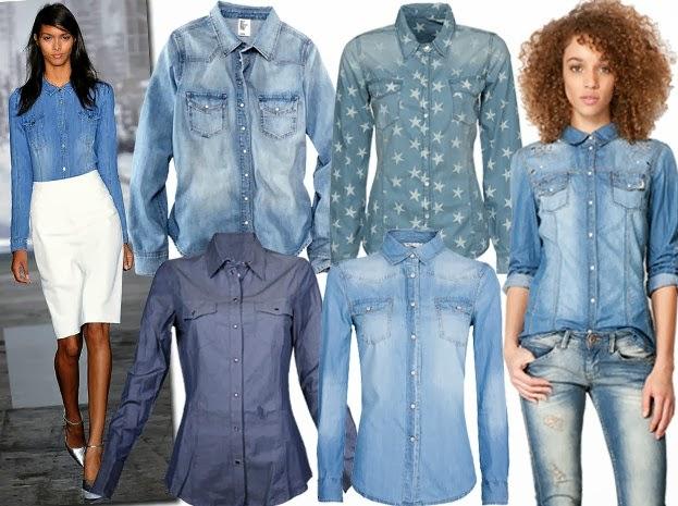 Джинсовая рубашка с . джинсами. Так как она считается одеждой на каждый день, ее обычно используют для повседневных