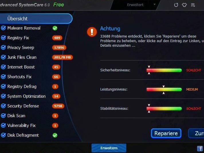 تحميل مباشر لبرنامج الحماية والصيانة advanced systemcare ultimate 8 مع السيريل