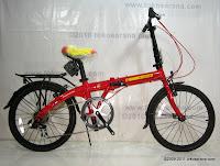 Sepeda Lipat Fold-X X-One Soccer Spain La Furia Roja 20 Inci