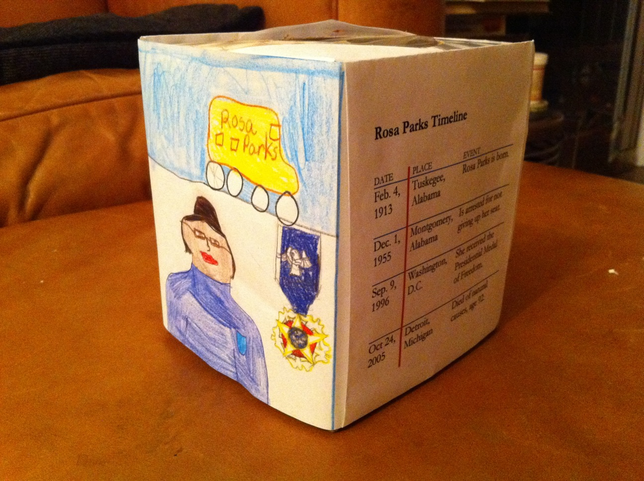 tied to my apron strings rosa parks tissue box a rd grade rosa parks tissue box a 3rd grade assignment