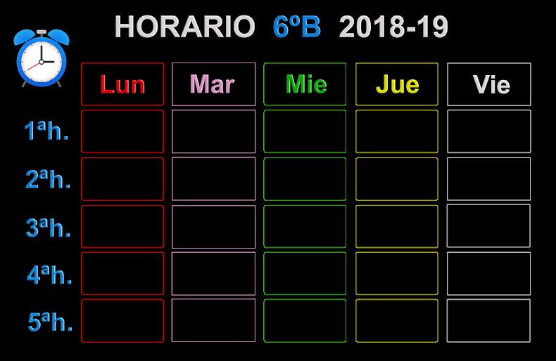 HORARIO 6ºB