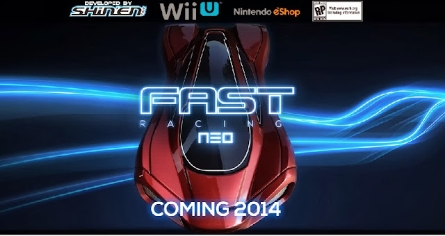 Promotional image for Wii U eShop game FAST Racing Neo