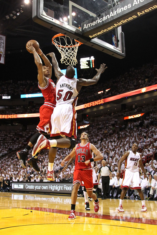 You Got Dunked On 2011 NBA Playoffs Derrick Rose Dunks Joel Anthony Eastern Conference Finals