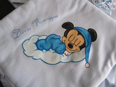 manta de bebe pintada