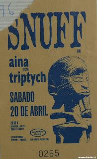 entrada de concierto de snuff