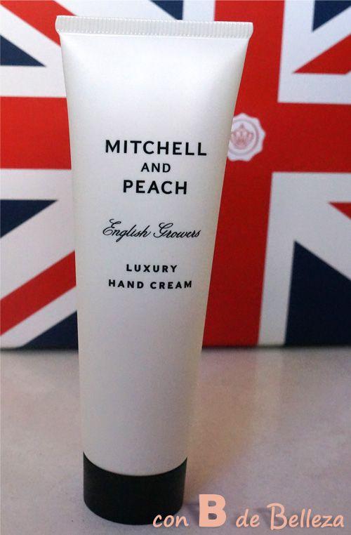 Luxury hand cream Mitchell and peach