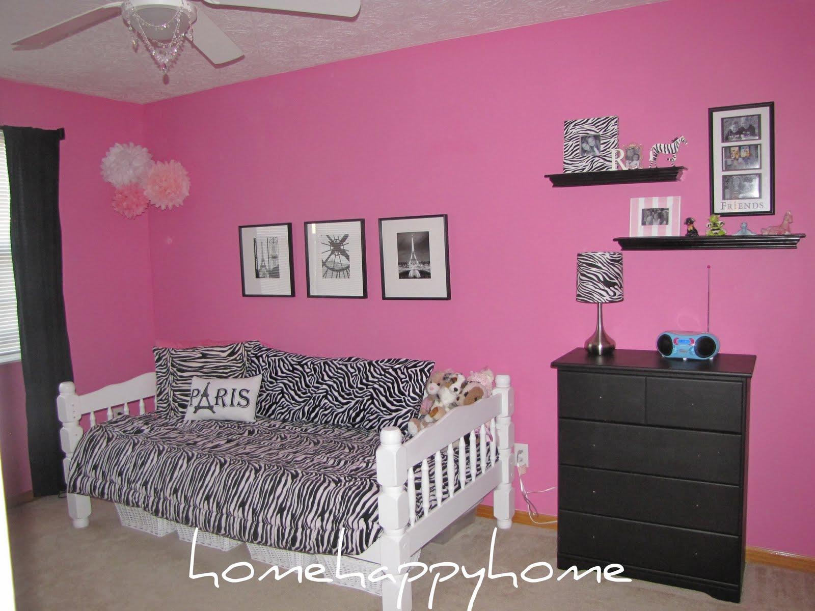 hot pink zebra room my daughter 39 s hot pink haven