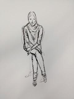 tekening model