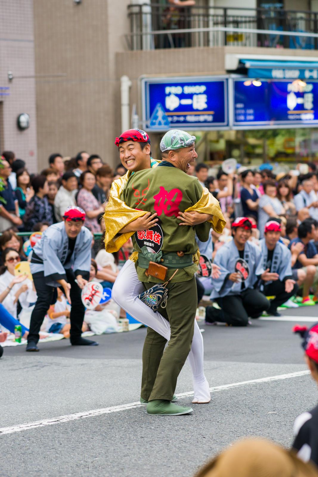 高円寺阿波踊り 江戸歌舞伎連のやっこ踊り
